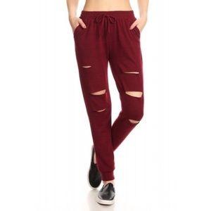 Pants - ShoSho Maroon Joggers
